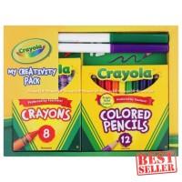 Crayola My Creativity Pack Crayon 8 Pcs Colored Pensil 12 Pcs