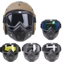 Promo Termurah Kacamata Goggle Helm Masker Motor Set Paintball