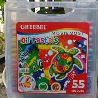 Terlaris Crayon Greebel Oil Pastels isi 55 Warna Kualitas Terbaik