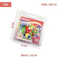 GREEBEL 55 WARNA Crayon Oil Pastel