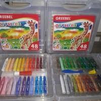 HOT SALE Promo Crayon Greebel Oil Pastels isi 48 Warna Keren Terjamin