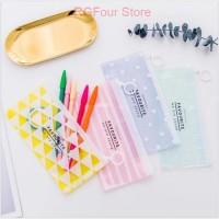 [TU] Tempat Pensil Zip Transparan Pastel - ST0248