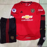 Jersey 1 set Manchester United Home 2019/2020 FULLPATCH EPL GO officia