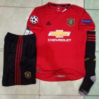 Jersey 1 set Manchester United Home 2019/2020 fullpatch UCL GO officia