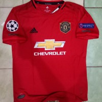 Jersey Manchester United Home 2019/2020 Fullpatch UCL grade ori offici