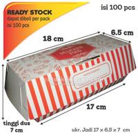 Dus Box Kemasan HOTDOG uk 17 x 6,5 x 7 cm Foodgrade Cetak 1 warna