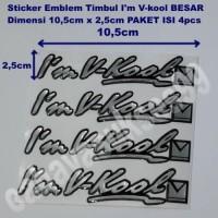 Stiker Kaca Mobil IM VKOOL Sticker Emblem Reflective Paket HEMAT 4pcs