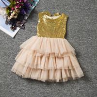 DRESS BLINKY ANAK BAYI / RUFFLE DRESS - CHAMPAGNE