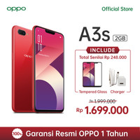 OPPO A3s Smartphone AI Beauty 2.0 Camera 2GB/16GB Red