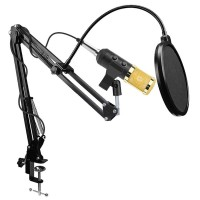 PAKET MIC Condenser Microphone Built-in Sound Card BM-900 Scissor