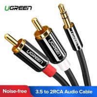 UGREEN Kabel Audio HiFi 3.5mm to RCA 1.5 Meter - AV116