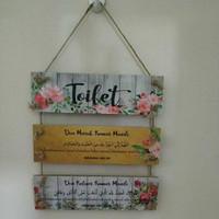 Hiasan Dinding - Doa Masuk Toilet WC Kamar Mandi