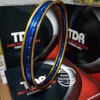 Velg TDR W Shape 17 x 140 warna Gold Blue