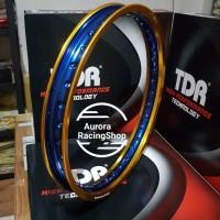 Velg TDR W Shape 17 x 160 warna Gold Blue