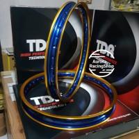 Velg TDR W Shape Set 17 x 140 / 160 warna Gold Blue