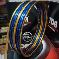 Velg TDR W Shape Set 17 x 140 / 140 warna Gold Blue