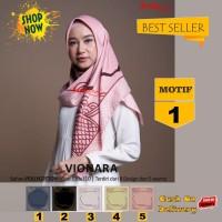 Jilbab Segiempat Vionara Motif 1 By Azzura Scarf- Kerudung Hijab Murah