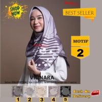 Jilbab Segiempat Vionara Motif 2 By Azzura Scarf- Kerudung Hijab Murah