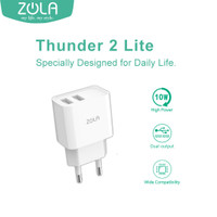 Zola Charger Thunder 2 Lite Dual Ports USB Output, Fast Charging 2.1A