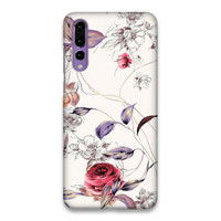 Indocustomcase Flower SC Roses Hard Case Cover For Huawei P20 Pro