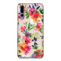 Indocustomcase Flower Splash Hard Case Cover For Huawei P20 Pro