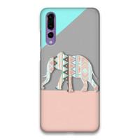 Indocustomcase Geomatric Elephant Hard Case Cover For Huawei P20 Pro