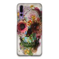 Indocustomcase Flower Skull Hard Case Cover For Huawei P20 Pro