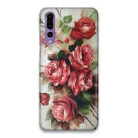 Indocustomcase FLower Roses Art Hard Case Cover For Huawei P20 Pro