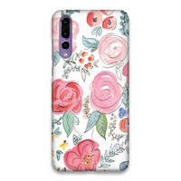flower Watercolor Floral Hard Case Cover For Huawei P20 Pro