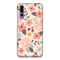 Indocustomcase Flower Fest Hard Case Cover For Huawei P20 Pro