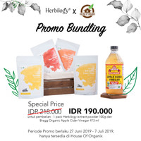 Bundling Promo Bragg ACV 473 ml and Herbilogy