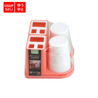 USUPSO Combination Two Cup Tooth Brush Rack / Tempat Sikat Gigi