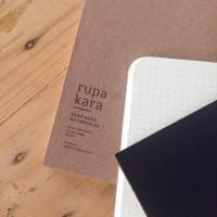 Rupakara Oldie Basic Notebook Dot Plain Ivory Brown Black A6 A5 F5 JLO