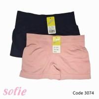 Celana Dalam Boxer Wanita Rajut Sofie 3074 Cd Segi Empat Strech