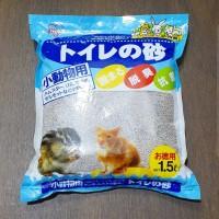 Iris Woody Fresh Blue 1.5lt Pasir Gumpal Hamster Kucing Toilet Mandi