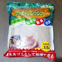 Iris Woody Fresh Green 1.5lt Pasir Mandi Hamster Toilet Kucing Gumpal