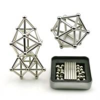 36PCS Magnetic Sticks 27PCS Steel Balls Toy Building Blocks Puzzle Toy