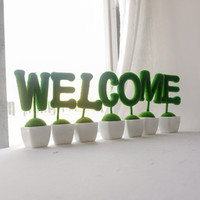 PAJANGAN POT WELCOME HOME PLASTIK