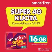 Kartu Perdana Smartfren 16GB GSM Super 4G Kuota