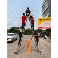 Tangga Lipat Aluminium Teleskopik 7.2 M Double Telescopic 7,2 Meter