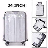 24 Inch Transparent PVC Travel Luggage Cover Protector Sarung Koper