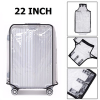 22 Inch Transparent PVC Travel Luggage Cover Protector Sarung Koper