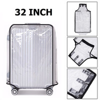 32 Inch Transparent PVC Travel Luggage Cover Protector Sarung Koper