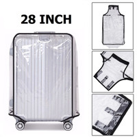 28 Inch Transparent PVC Travel Luggage Cover Protector Sarung Koper