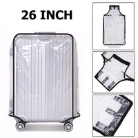 26 Inch Transparent PVC Travel Luggage Cover Protector Sarung Koper