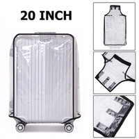 20 Inch Transparent PVC Travel Luggage Cover Protector Sarung Koper