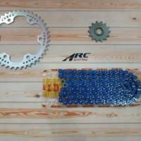 Gear set WR3 CBR 250RR Silver DID 520 VPX - 120 Blue