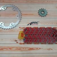 Gear set WR3 CBR 250RR Silver DID 520 VPX - 120 Red