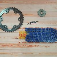 Gear set WR3 CBR 250RR Titan DID 520 VPX - 120 Blue