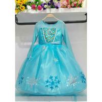 Baju Anak Dress Kostum FROZEN ELSA (14) - Glitter Biru dan Emas